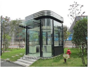 Bốt gác khu đô thị bằng nhôm kính Handy 2x2m