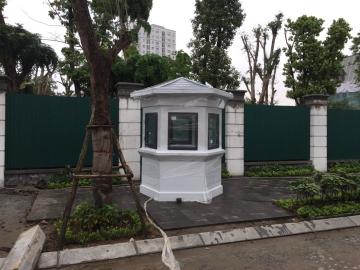 Nhà bảo vệ lục giác lắp tại khu biệt thự